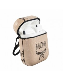 MCM AirPods Case Protective Cover Beige