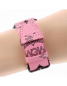 MCM Apple Watch Bands Strap Pink