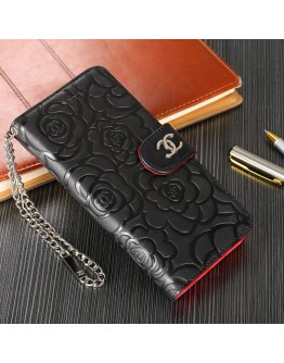 C iPhone Wallet Case Napa Pattern Genuine Leather