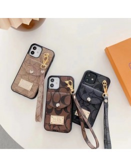 Coach iPhone Card Pocket Case With Strap