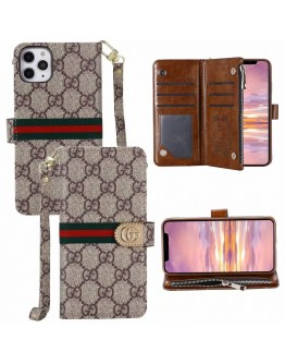 Gucci iPhone Wallet Case Zipper Flip Stand Cover